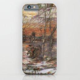 Kida Kinjiro - Early Winter Getting Dark (1957) iPhone Case