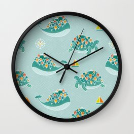 Whaleshire and Turtleland Wall Clock