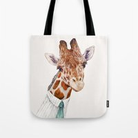 toddler Tote Bags featuring Mr Giraffe by Animal Crew