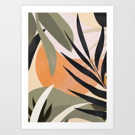 Abstract Art Tropical Leaves 2 Art Print