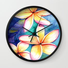 Blooming Plumeria 5 Wall Clock