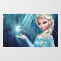 frozen elsa Area & Throw Rugs featuring Elsa Frozen by Niniel