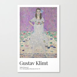 Gustav Klimt - Exhibition Art Poster - Mäda Primavesi - Met Museum Canvas Print