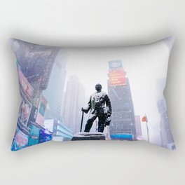 Snowy Times Square, NYC Rectangular Pillow