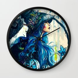 Witchy Woman (Halloween) Wall Clock
