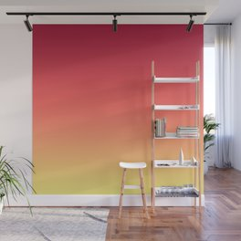 Red Orange Coral Yellow Gradient Ombre Pattern Wall Mural