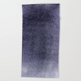 Inky Purple Field Beach Towel