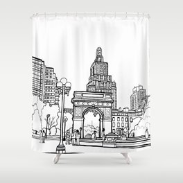 Washington Square Park - New York Shower Curtain