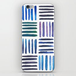 Lines in Blue iPhone Skin