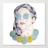 ellie goulding Canvas Prints featuring ELLIE GOULDING  by Aidan Reece Cawrey