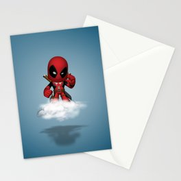 I'm Diedpool Flying Stationery Cards