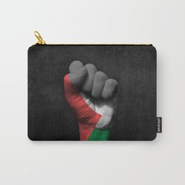Palestinian Flag on a Raised Clenched Fist Carry-All Pouch
