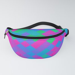 Polysexual Pride Pixelated Angled Squares Fanny Pack
