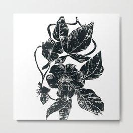 Floral Wood Print Metal Print