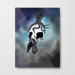 Octopi in Bird's Eye Metal Print
