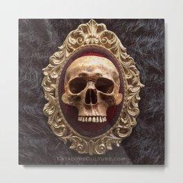 Catacomb Culture - Vintage Human Skull Metal Print