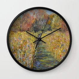 Path in the Meadow Wall Clock