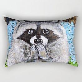 Mischief the Raccoon Rectangular Pillow