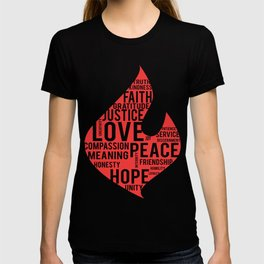Fire flame and virtues T-shirt