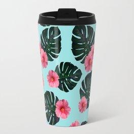 Tropical pattern n.1 - pale blue Travel Mug