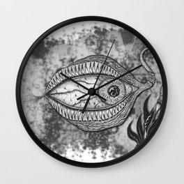 An eye a flower Wall Clock