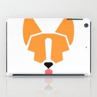 corgi iPad Cases featuring corgi by modern arf
