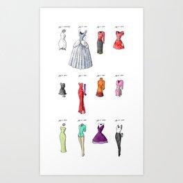 the Evolution of Womenswear Art Print