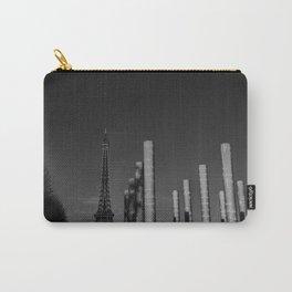 Paris en noir et blanc Tour Eiffel Carry-All Pouch