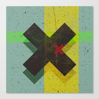 cross Canvas Prints featuring CROSS by Metron