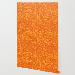 Wild Pop Orange Wallpaper