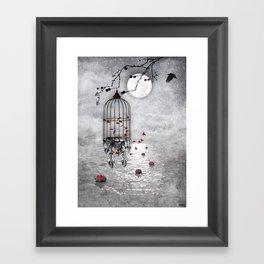 Le vent nous portera .... Framed Art Print