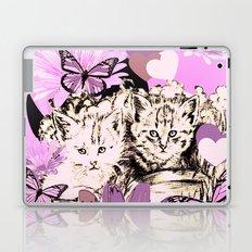 Frieda's Baby Cats in Pink Laptop & iPad Skin