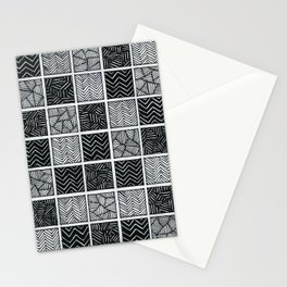 Checkered pattern Stationery Cards