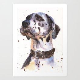 Great Dane, dog art, watercolor animals, watercolor Art Print