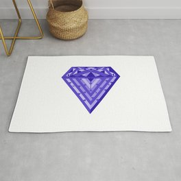 Blue diamond Rug