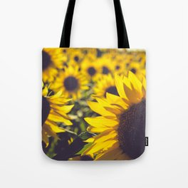 Summer Sunflower Love Tote Bag