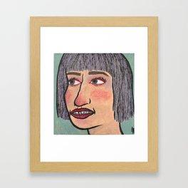 Snaggletooth Framed Art Print