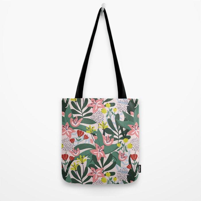 Lush Florals Tote Bag