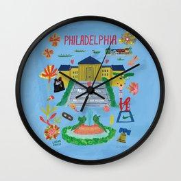 Lauren Philly Map Wall Clock