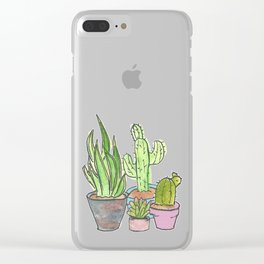 Grow Your Own Way II Clear iPhone Case