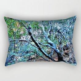 """""""Hillside Trees at Dusk"""" Rectangular Pillow"""