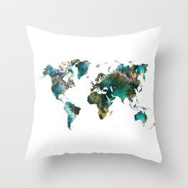 Map of the World tree #map #world Throw Pillow