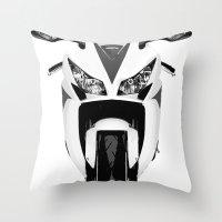 honda Throw Pillows featuring Honda Motorcycle by SABIRO DESIGN