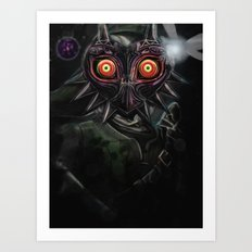 Legend of Zelda Majora's Mask Link Art Print