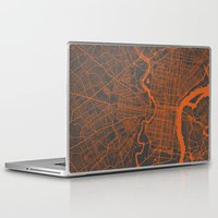 philadelphia Laptop & iPad Skins featuring Philadelphia 2 by Map Map Maps