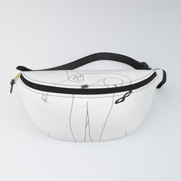 Black and White Pierrot Fanny Pack