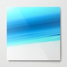 Turquoise Aqua Ombre Metal Print