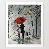 Romantic Stroll Art Print