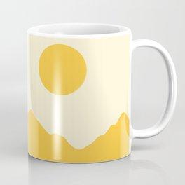 Golden Minimalist Mountainscape Coffee Mug