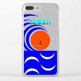 Hawaii stick man design A Clear iPhone Case